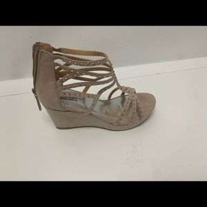 Badgley Mischka Girls Casey Crystals Wedge